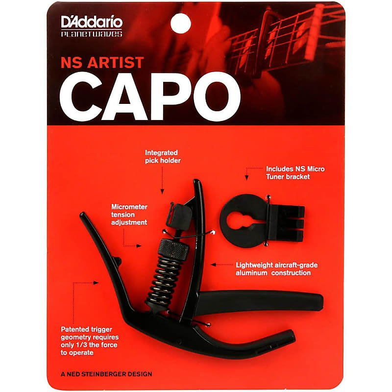 Planet Waves PW-CP-10 NS Artist Capo w/NS Micro Tuner Bracket