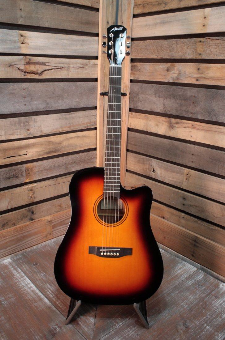 Austin AA25-DEC-SB Gloss Sunburst Acoustic/Electric Guitar with Cutaway