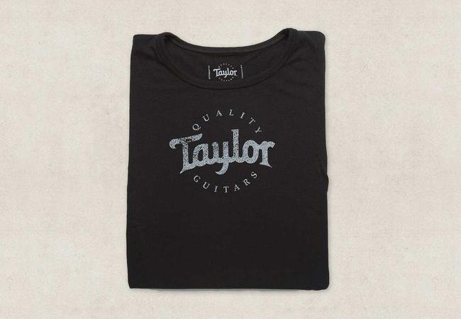 Taylor Women's Back Black Logo T-Shirt