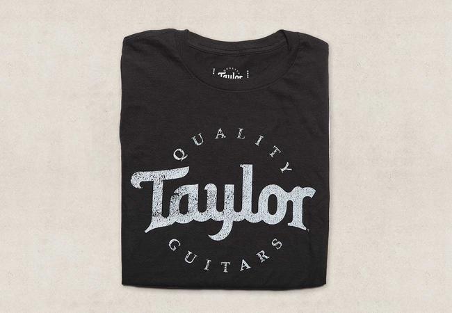 Taylor Basic Black Aged Logo T-Shirt