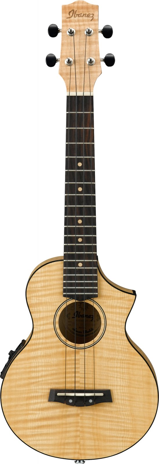 Ibanez UEW12E Acoustic/Electric Flamed Maple Concert Ukulele with Cutaway