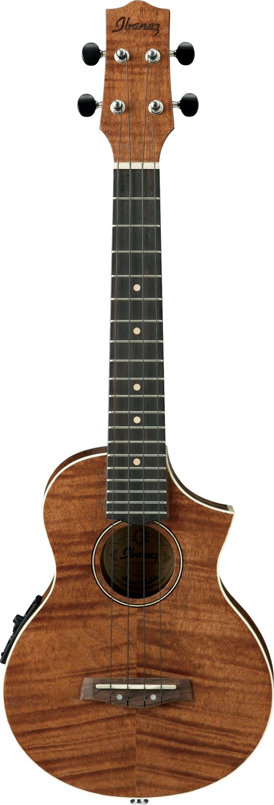 Ibanez UEW15E Acoustic/Electric Flamed Mahogany Concert Ukulele with Cutaway