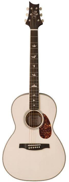 PRS SE P20E Parlor Antique White Acoustic/Electric Guitar with Gigbag