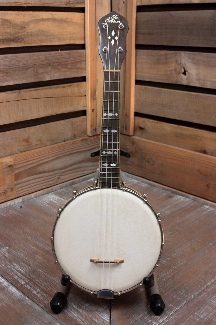 Vintage ('ca 1929) Gibson BU-3 Banjo Uke with Case