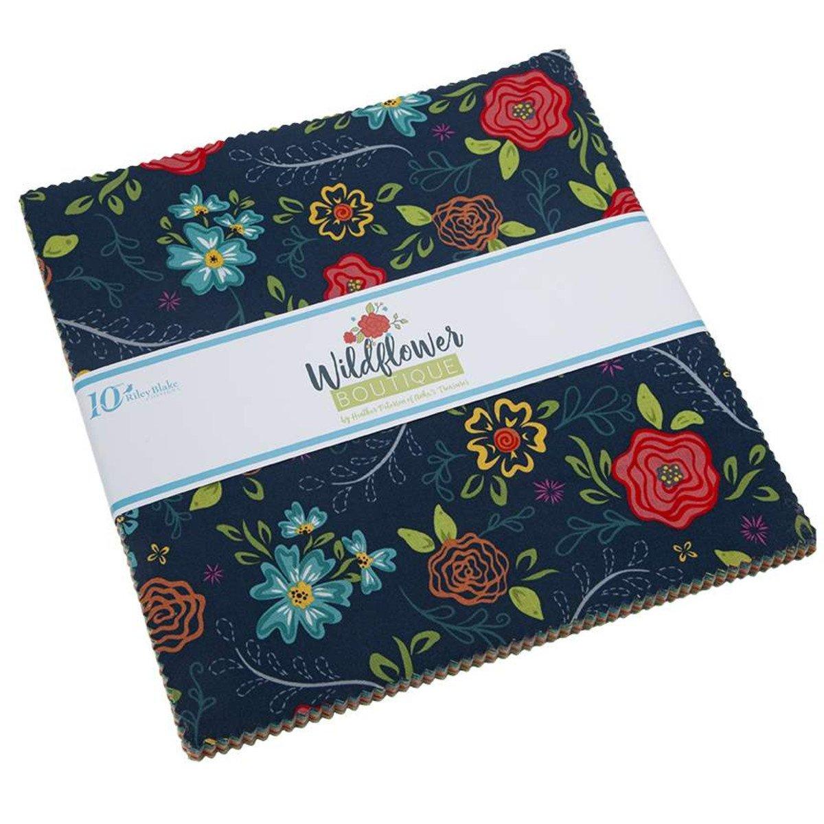 Wildflower Bouquet 10 Squares (42)