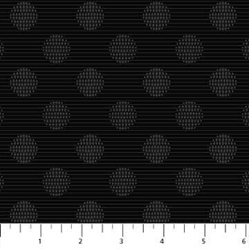 Simply Neutral Black Large Dot Stripe