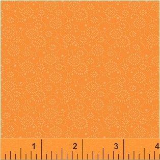 Apricot Circle Flowers - Color Wall