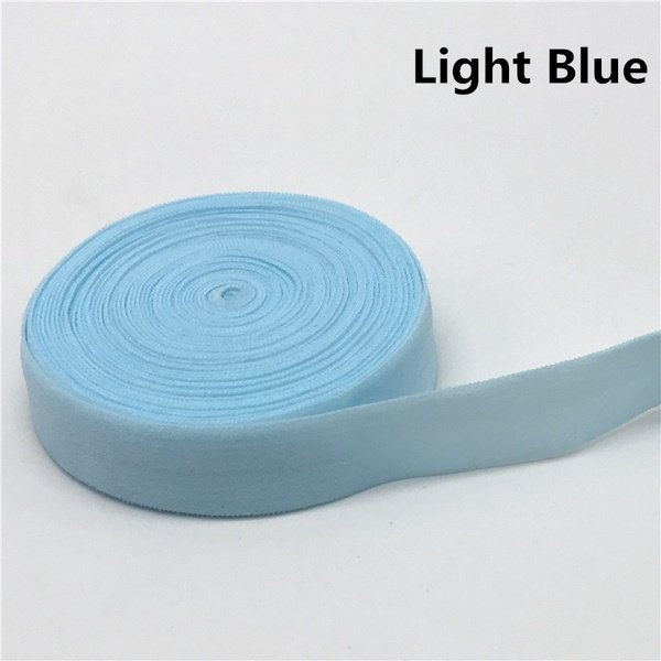 Fold-over Elastic - 5/8 - Lt Blue