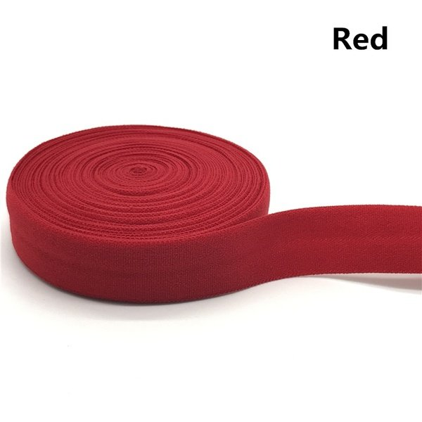 Fold-over Elastic - 5/8 Red