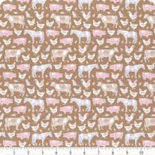 Farm Animals Brown - Tiny Farm by Tilda