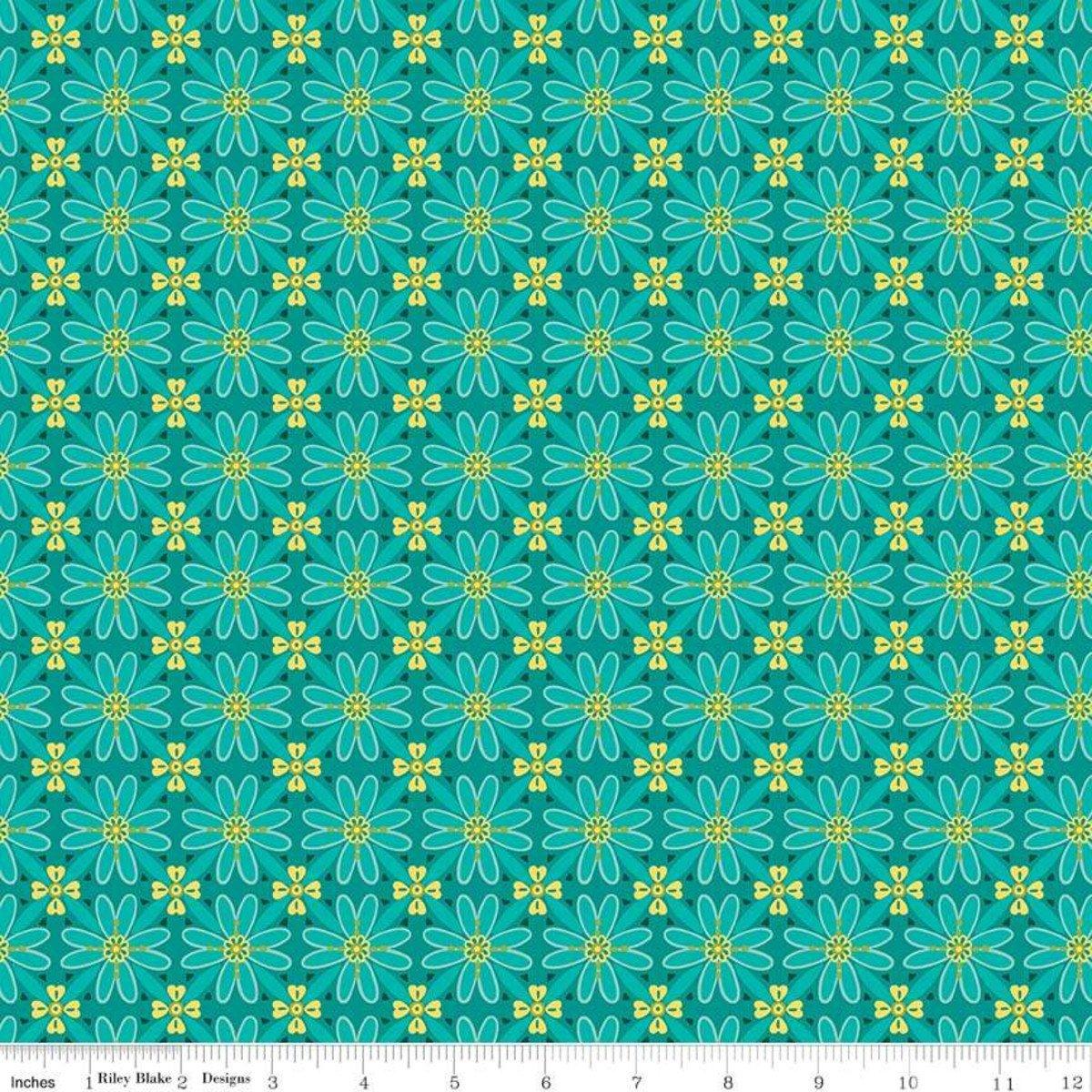 Mosaic Teal - Wildflower Bouquet