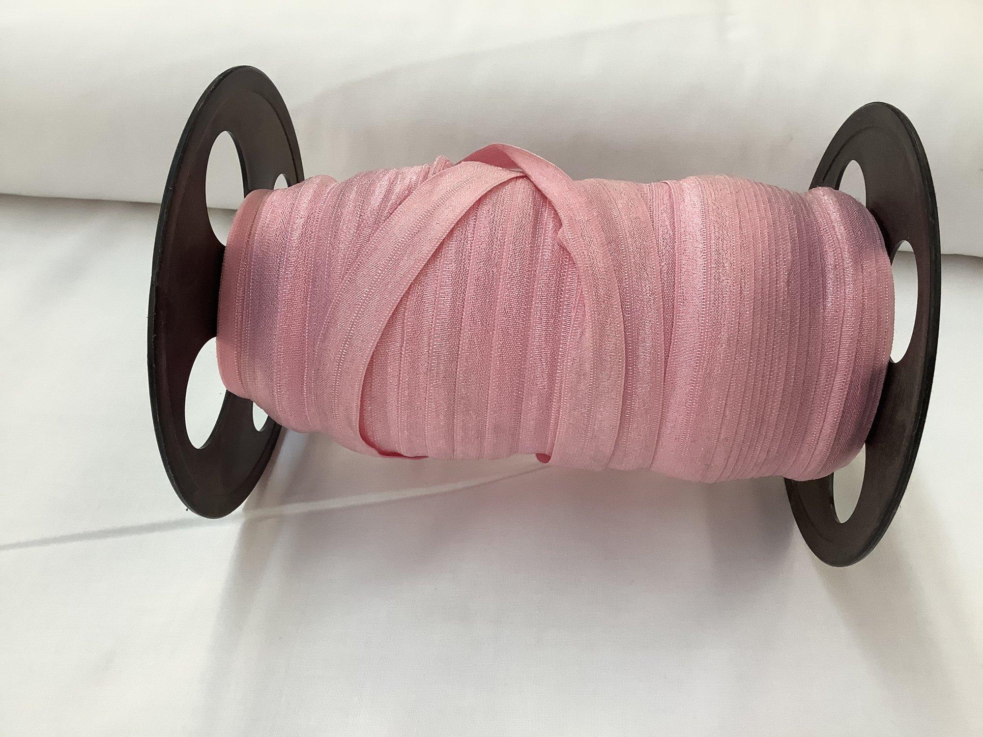 Fold-over Elastic - 5/8 - Med Pink