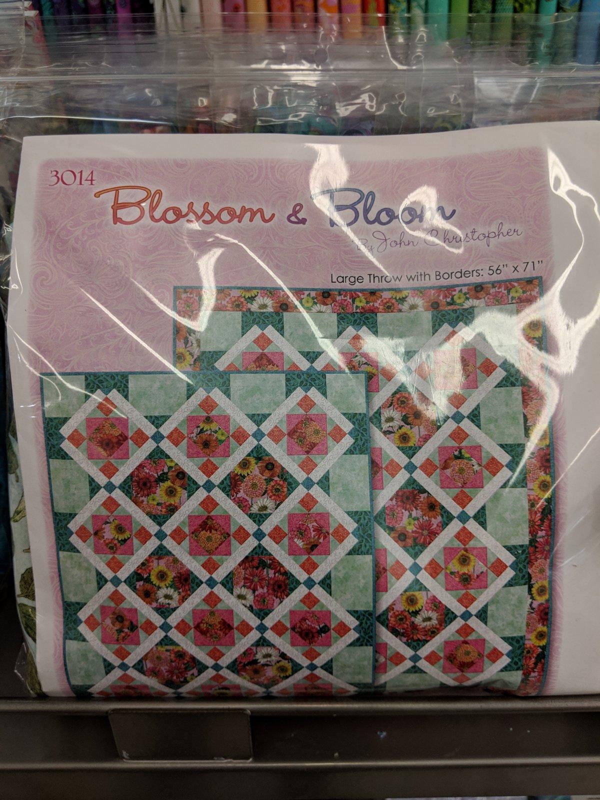 Pink Blossom & Bloom Quilt Kit w/Border 56 x 71