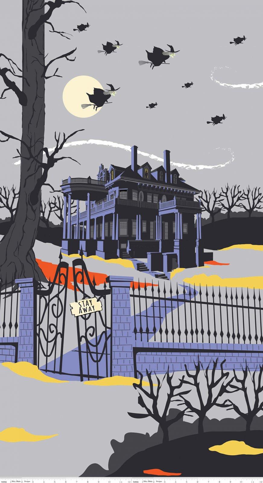 Haunted House Grey Panel