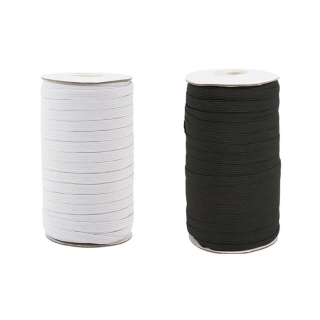 White Elastic 1/4 inch / 6mm Back in Stock