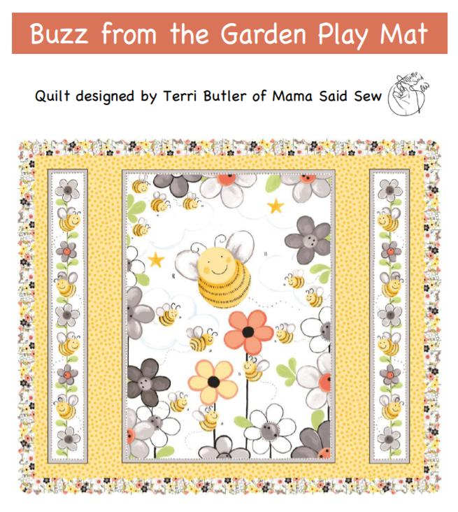 Buzz from the Garden Play Mat w/Ruffle