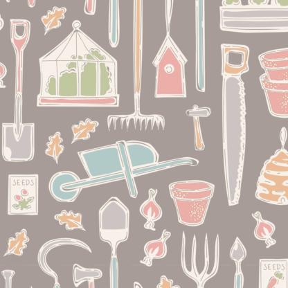 Farm Tools Grey - Tiny Farm by Tilda