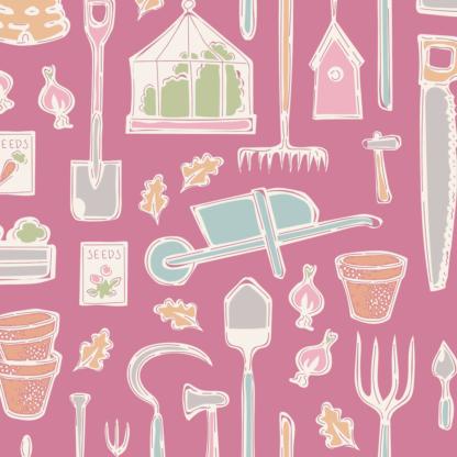 Farm Tools Pink - Tiny Farm by Tilda