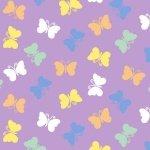 Retro Charm Purple Butterflies