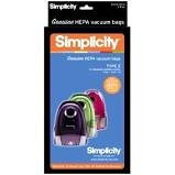 Simplicity HEPA Canister Type Z Bags - Snap / Jack / Jill