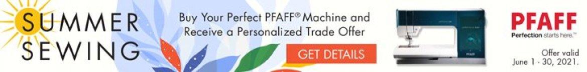 Pfaff summer sewing sale