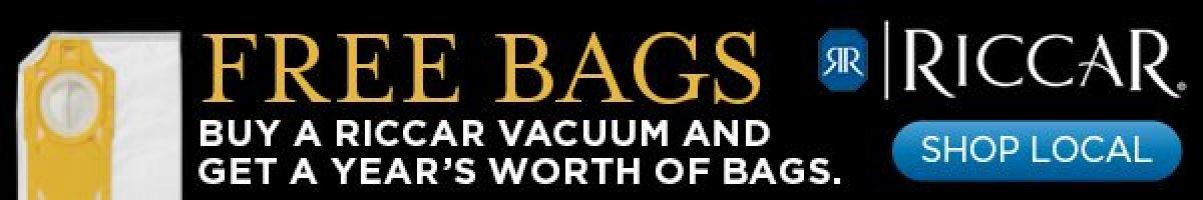 riccar free vacuum bags