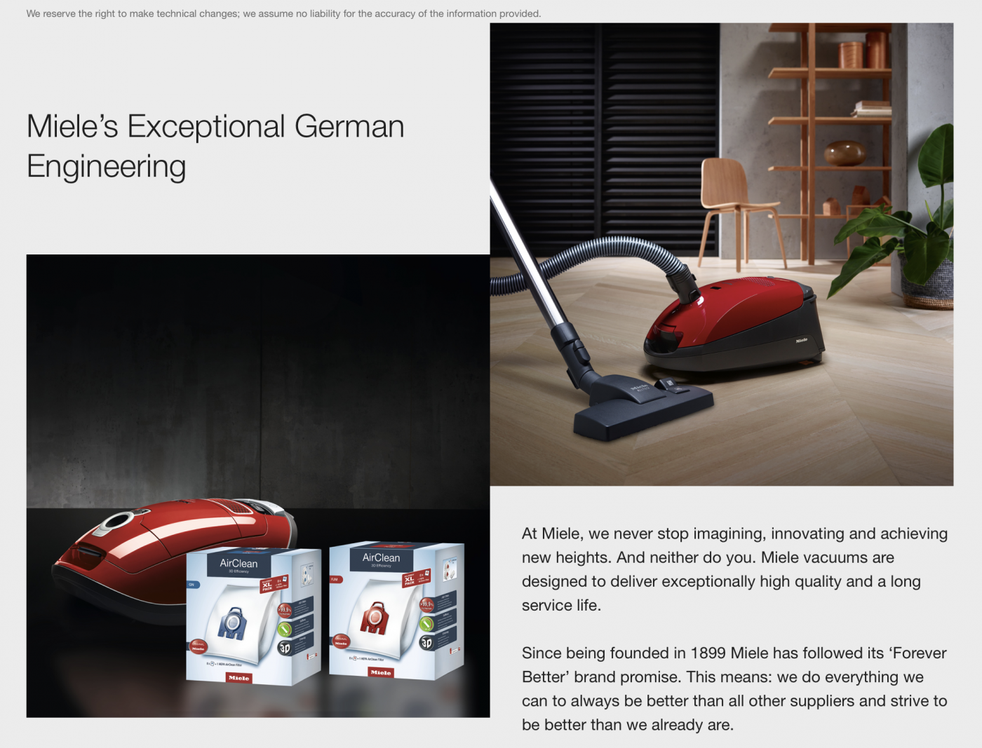 Miele's Exceptional German Engineering