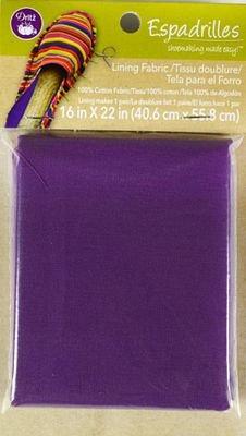 Espadrille Lining Fabric Purple