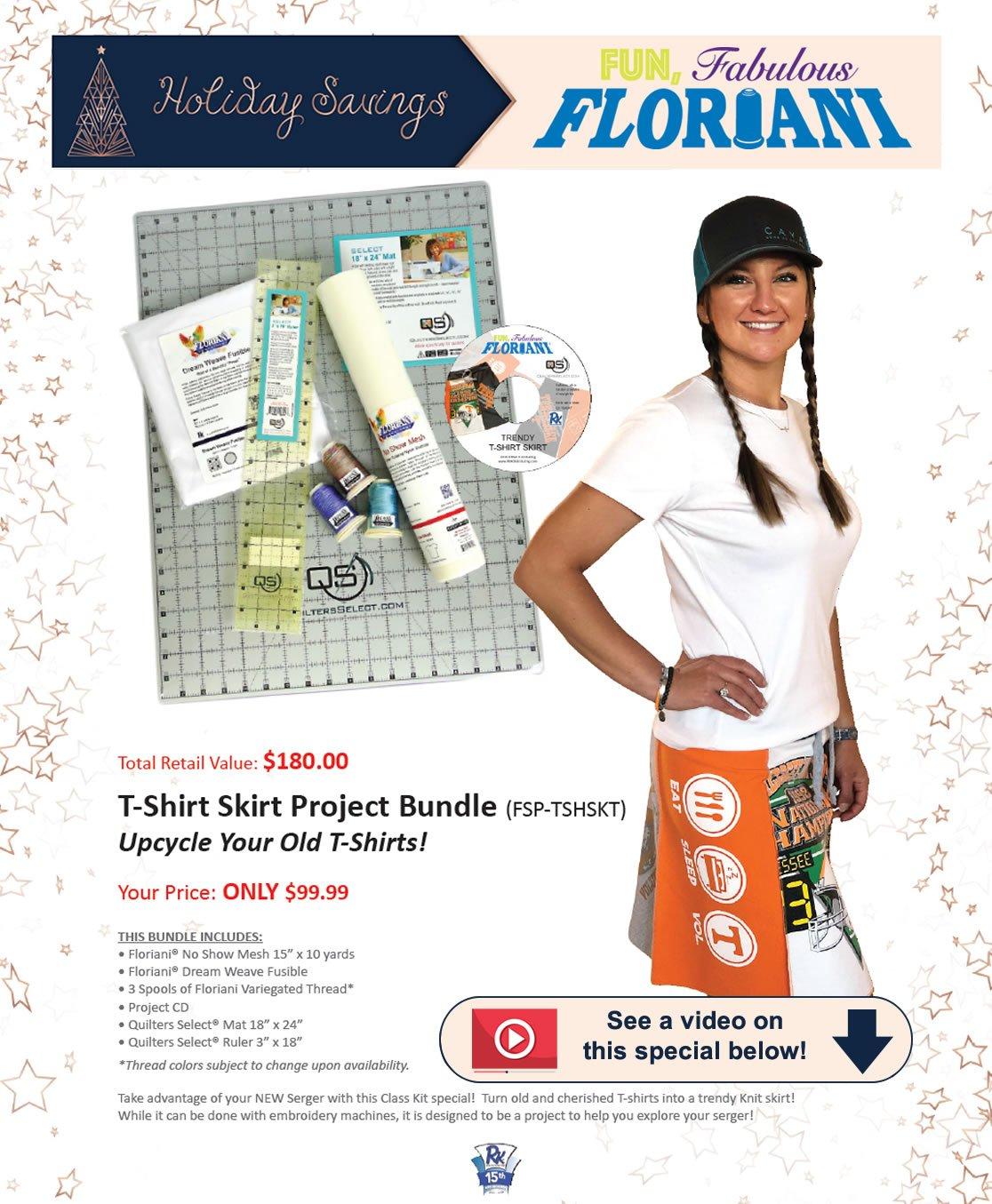 Fl T-Shirt Skirt Serger Proj Bundle