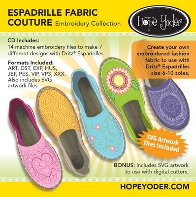 Espadrille Fabric Couture EmbCD