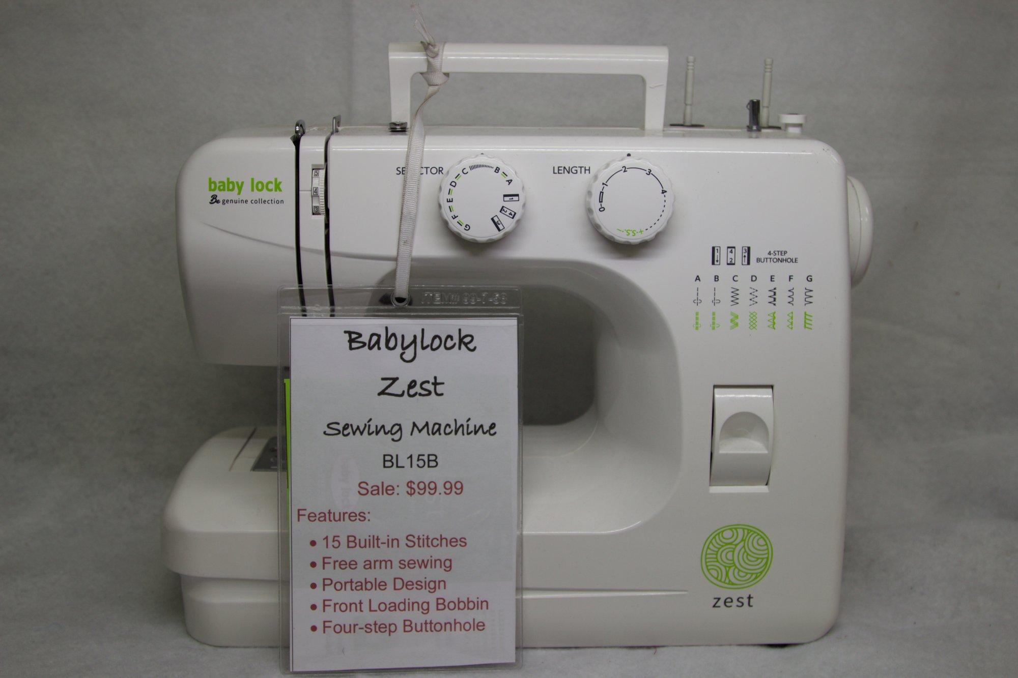 Babylock Zest Sewing Machine #C18001296