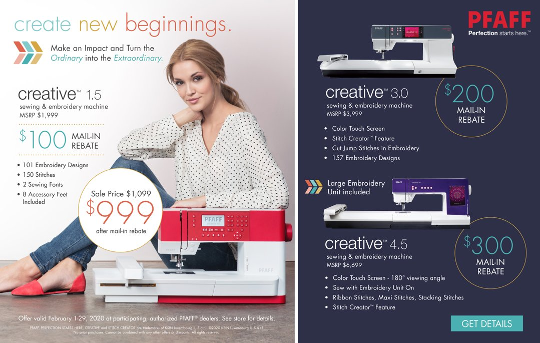 Pfaff Creative 4 5 With Lg Embroidery Unit