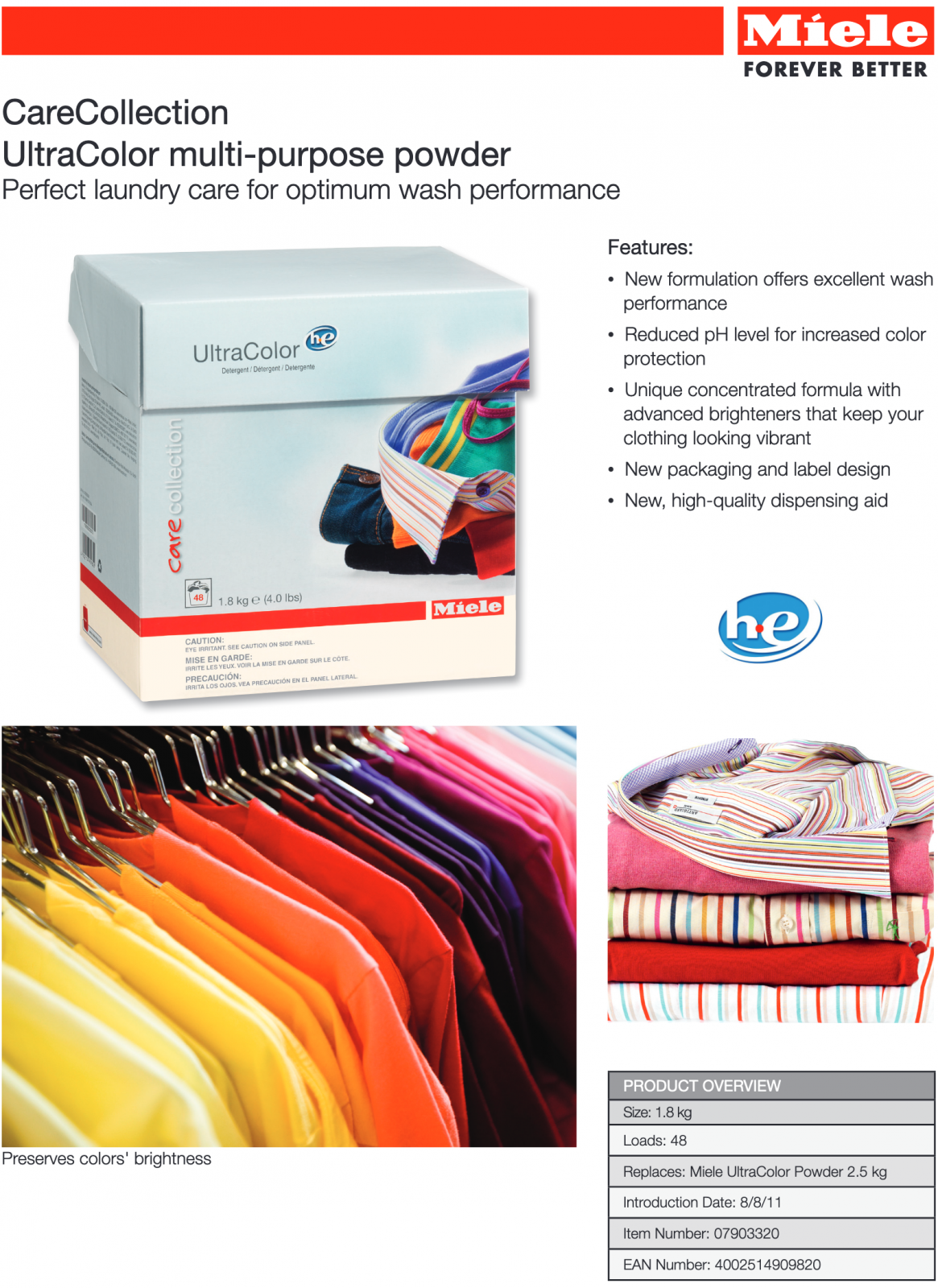 CareCollection UltraColor multi-purpose powderPerfect laundry care for optimum wash performance