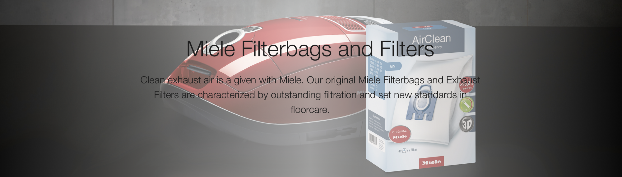 Miele Filterbags and Filters
