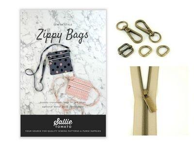 Sallie Tomato Pat Kit 4 Zippy Crossbody