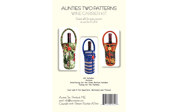 Aunties Two Wine Carrier Kit