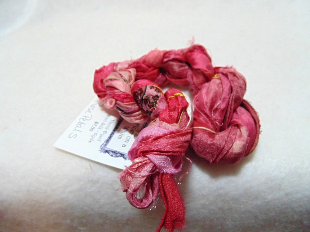 Rose Petals Hand-Dyed Sari Silk 3yds