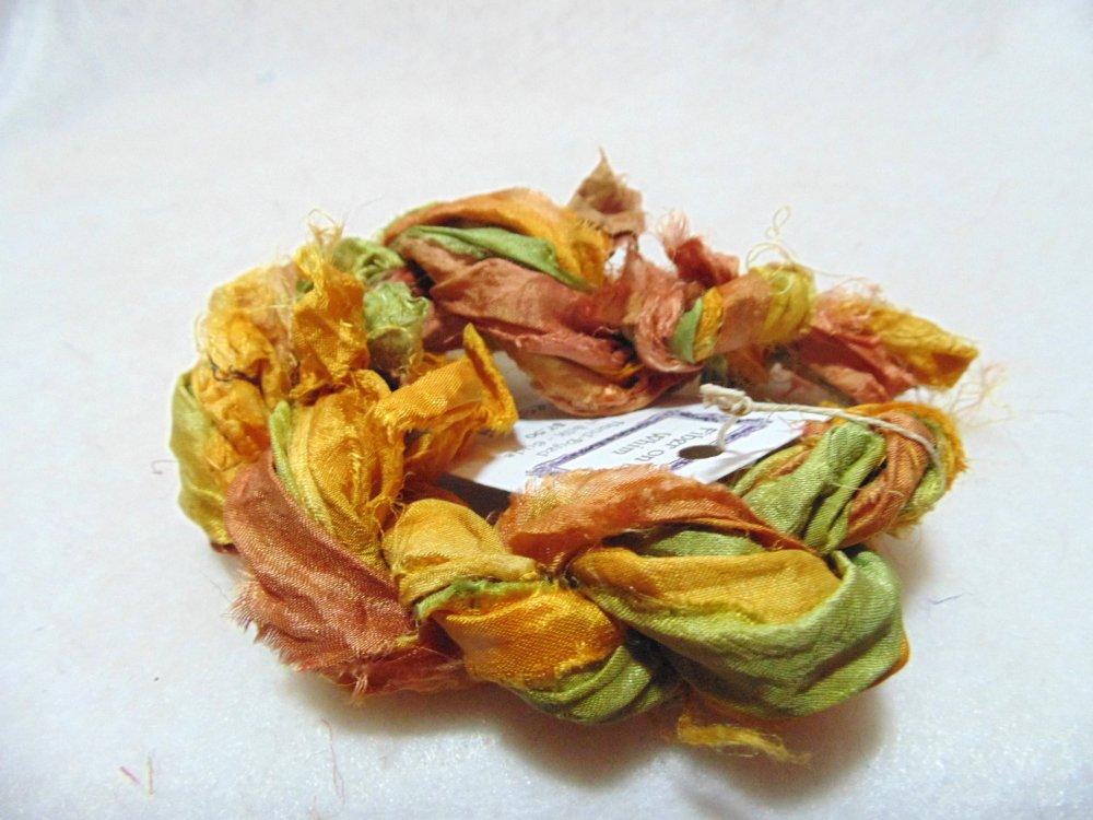 Forest Floor Hand-Dyed Sari Silk 3yds