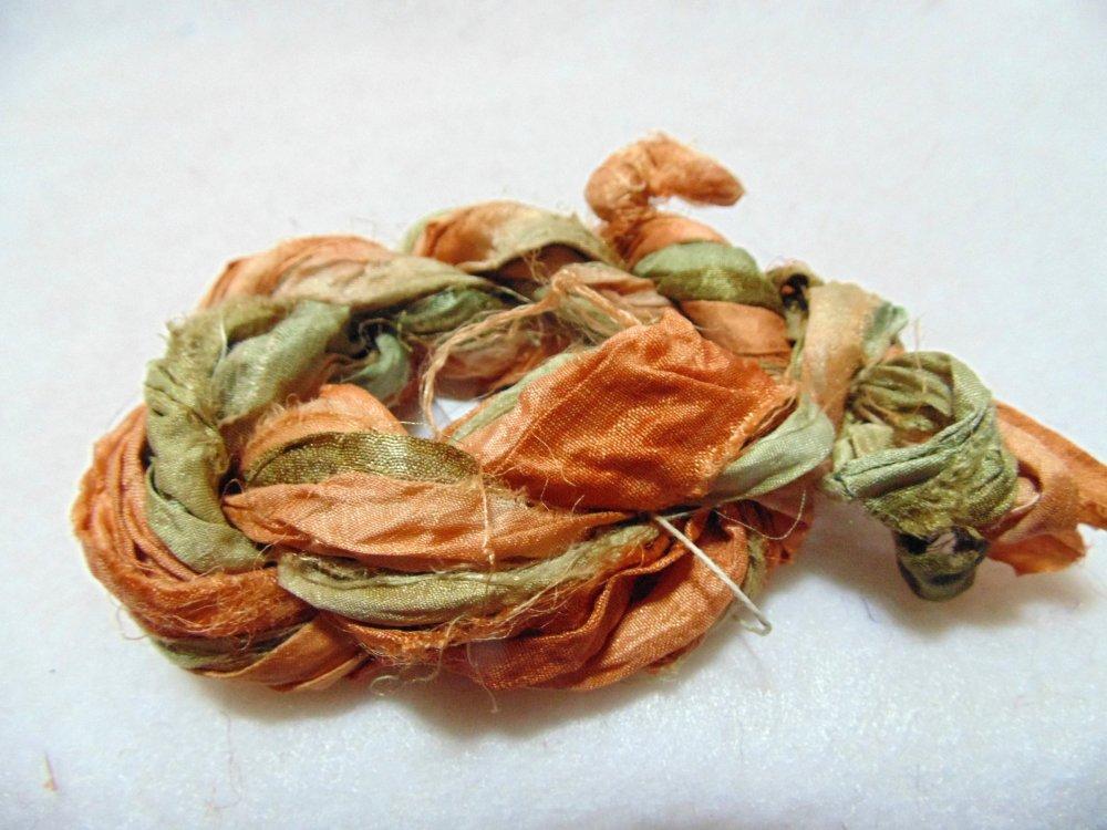 Autumn Splendor Hand-Dyed Sari Silk 3yds