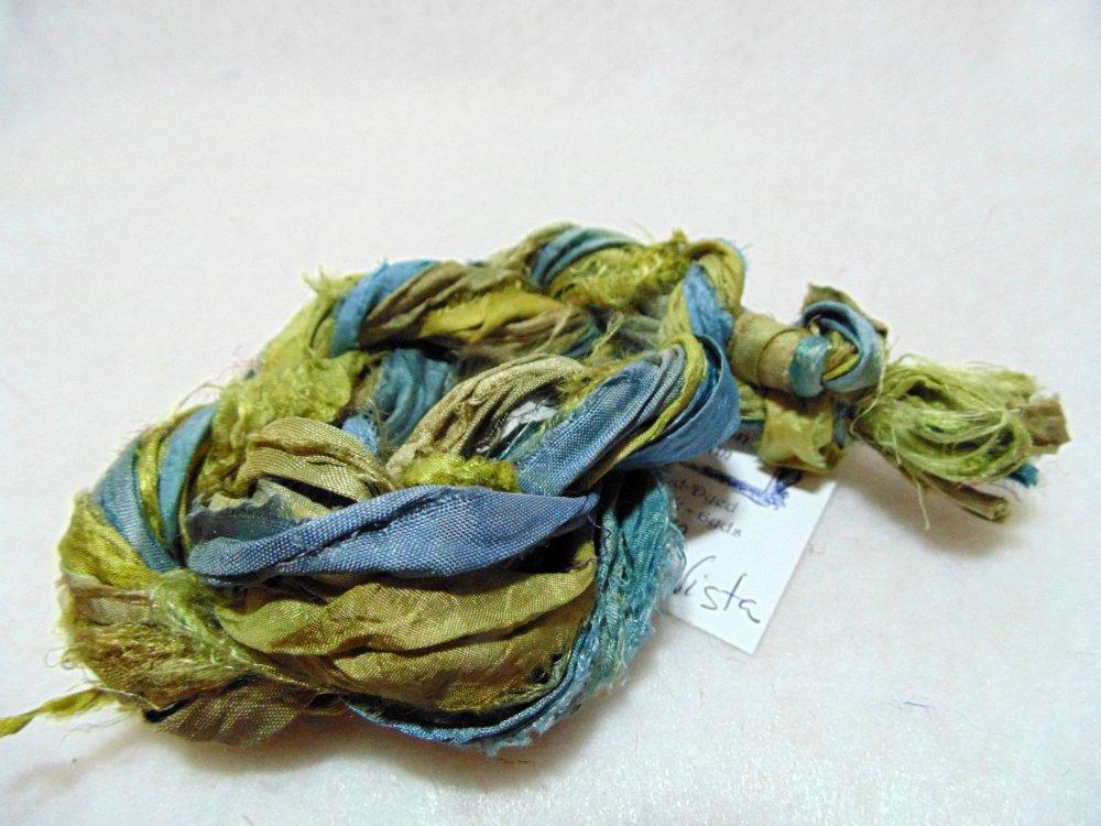 Mountain Vista Hand-Dyed Sari Silk 3yds