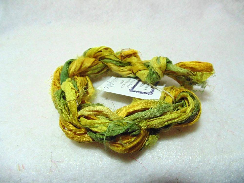 Marigolds Hand-Dyed Sari Silk 3yds