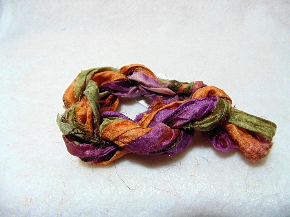 Thistles Hand-Dyed Sari Silk 3yds