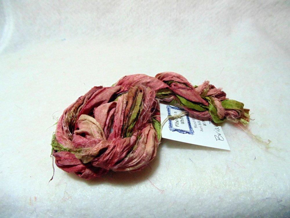 Blackberry Hand-Dyed Sari Silk 3yds