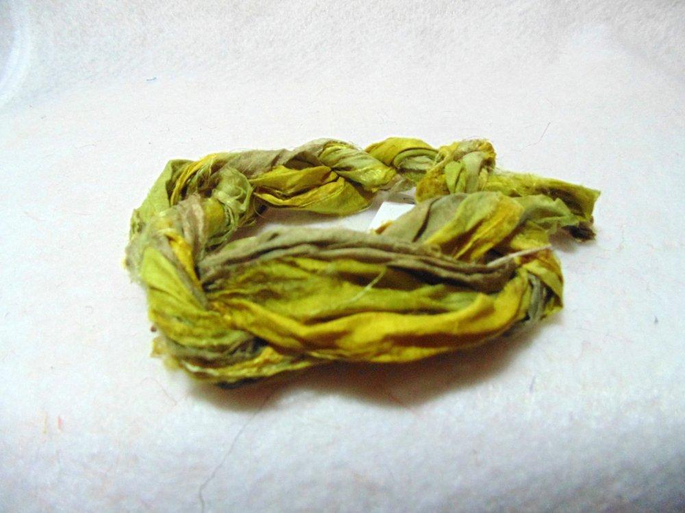 Pickles Hand-Dyed Sari Silk 3yds