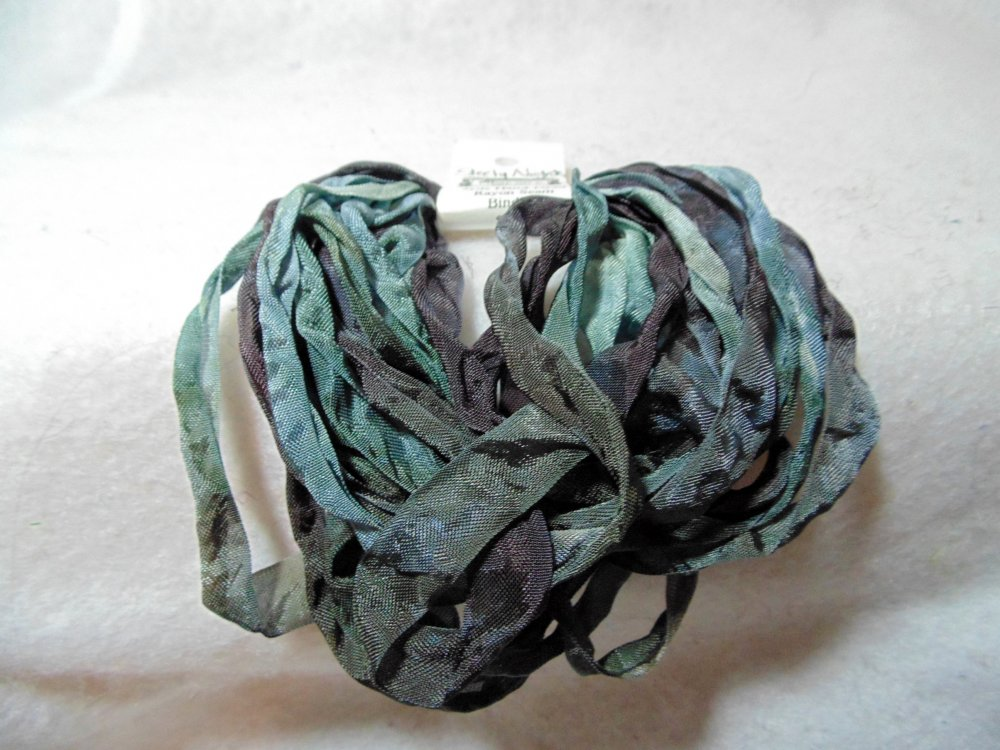 Steely Nights Hand-Dyed Rayon Seam Binding 5yds