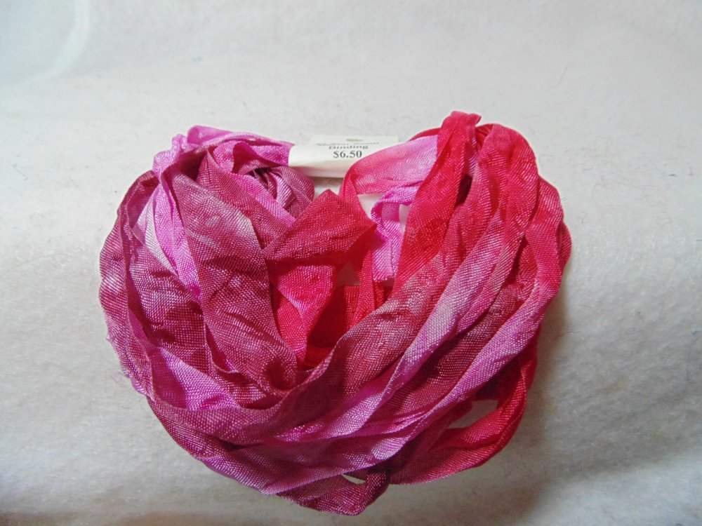 Rose Petals Hand-Dyed Rayon Seam Binding 5yds