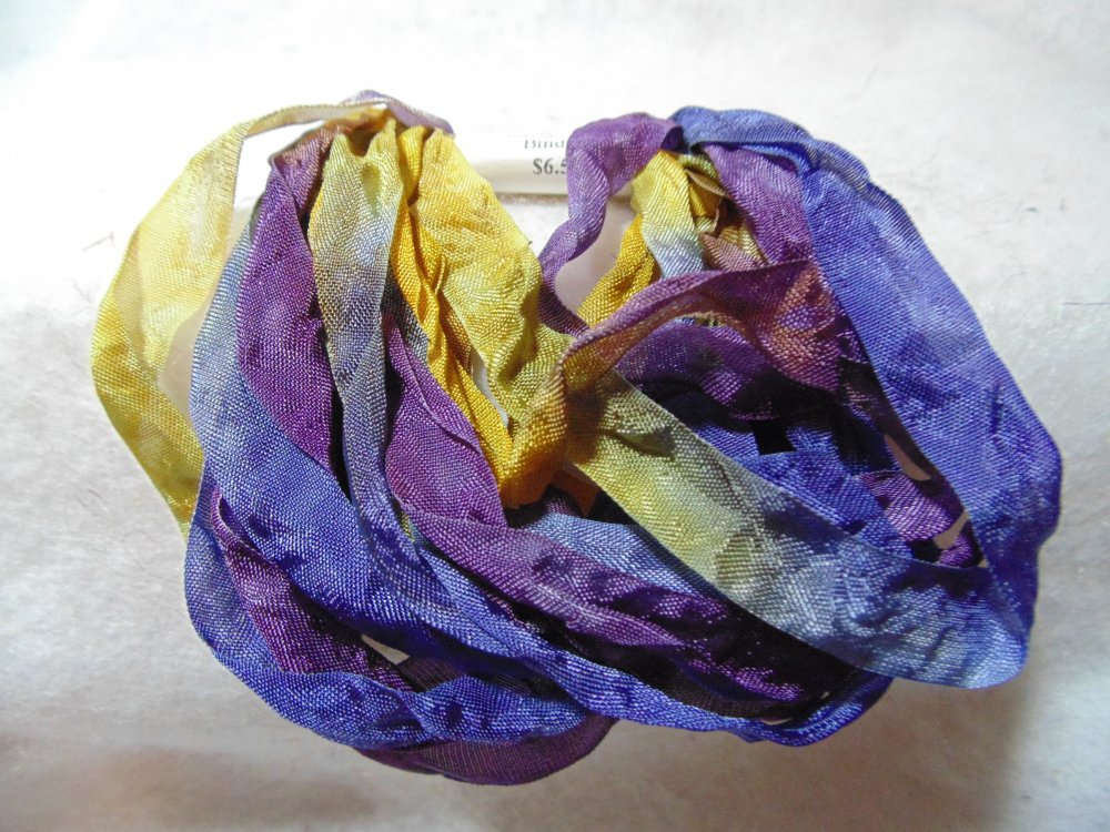 Morning Glory Hand-Dyed Rayon Seam Binding 5yds