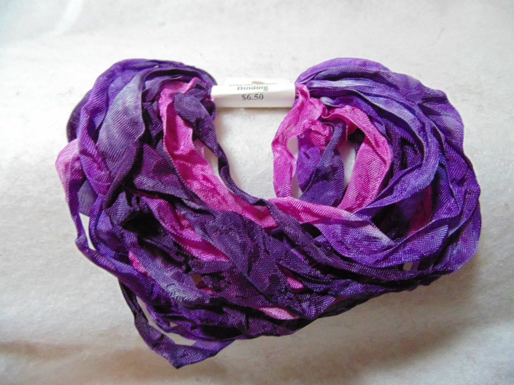 Purple Haze Hand-Dyed Rayon Seam Binding 5yds