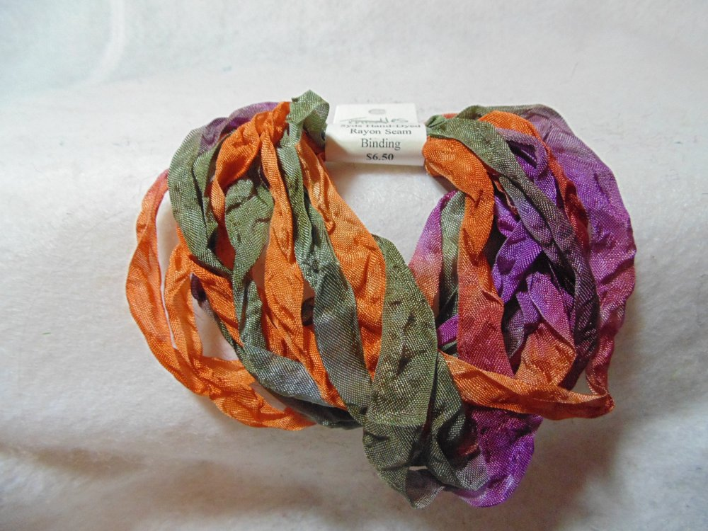 Thistles Hand-Dyed Rayon Seam Binding 5yds