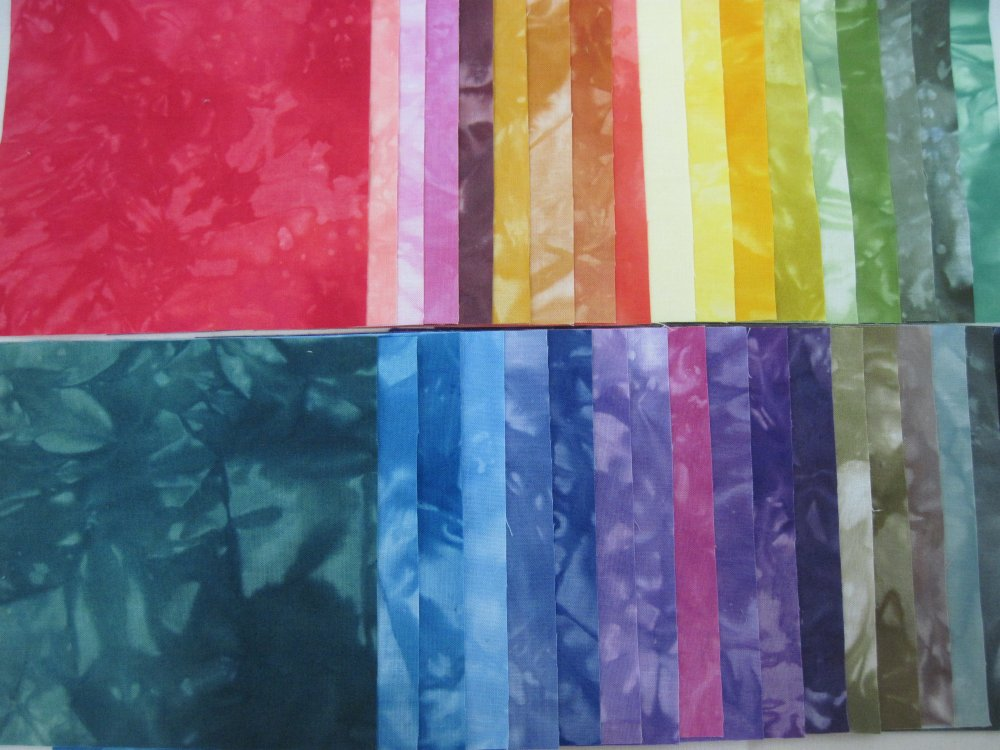 Hand-Dyed Cotton 5in CharmPack 40pcs